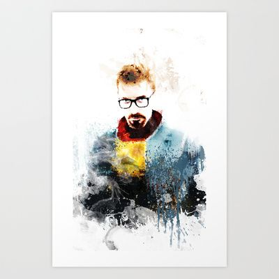 GORDON FREEMAN Art Print by cfortyone - $17.00