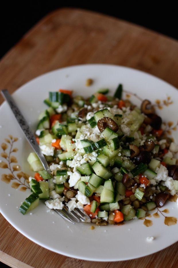 Cold Mediterranean Lentil Salad