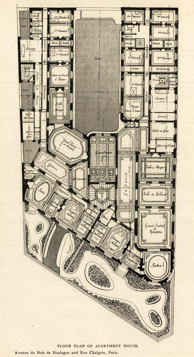 37 best architectural plans images on pinterest floor plans floor plan of an apartment house avenue du bois de boulogne and rue chalgrin paris archi maps photo