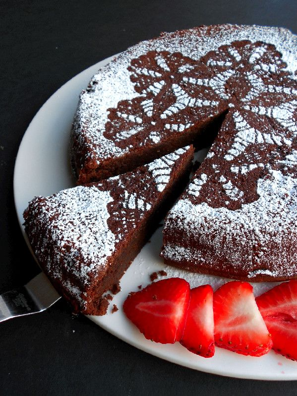 Easy Flourless Chocolate Cake - gluten-free due to the garbanzo beans! (So really, you'd be making your kids eat something, dare I say, healthy!)