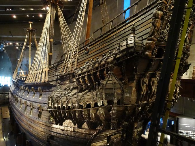 The Vasa ship which capsized and sank in Stockholm 1628