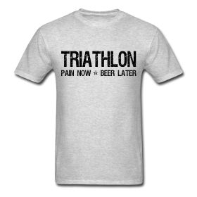 Triathlon - Pain Now Beer Later. The perfect design or gift for triathletes.