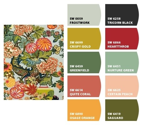paint colors based on a fabric