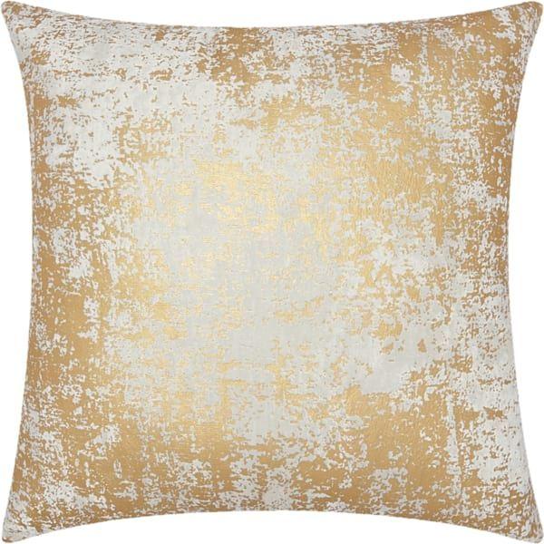 Leo Gold Distressed Metallic Pillow Description Gold Distressed