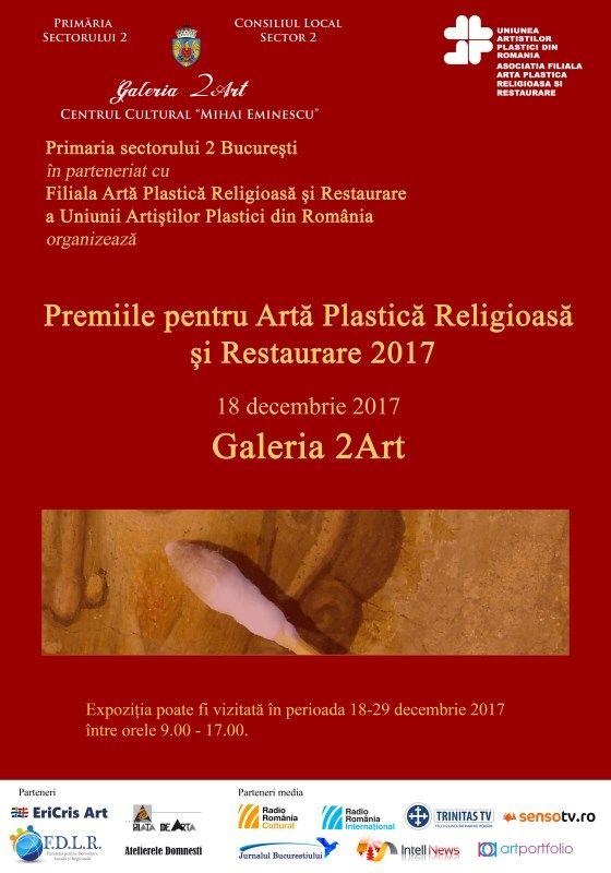 Este inclus evident si evenimentul AFAPRR : Premiile pentru Artă Religioasă și Restaurare 2017 și Expozitia de Iarnă a Asociației Filială Artă Plastică Religioasă și Restaurare a UAP din România, Galeria 2 Art. Articol din 17 decembrie:  Intell News recomandă: evenimentele lunii decembrie pe simezele Capitalei Grupaj de: Claudiu Victor Gheorghiu.