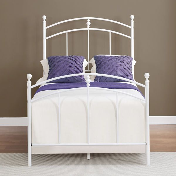 white metal bed frame twin sized kids bedroom furniture vintage headboard footbo