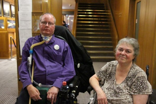 Paul Caune and Jill Weiss of Vancouver's Persons with Disabilities Advisory Committee.