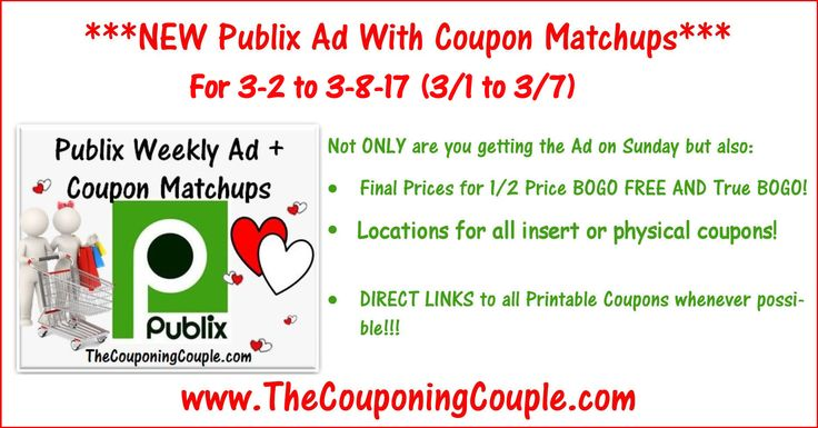 Here is the Publix Ad with coupon matchups for 3-2 to 3-8-17 (3/1 to 3/7 for those whose ad begins on Wed). Enjoy!  Click the link below to get all of the details ► http://www.thecouponingcouple.com/publix-ad-with-coupon-matchups-for-3-2-to-3-8-17-31-to-37/ #Coupons #Couponing #CouponCommunity  Visit us at http://www.thecouponingcouple.com for more great posts!