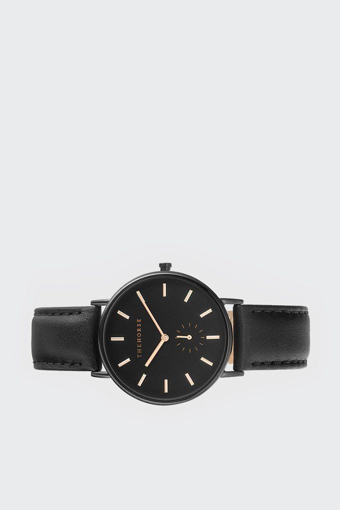 The Classic Watch - Black/ Black Leather