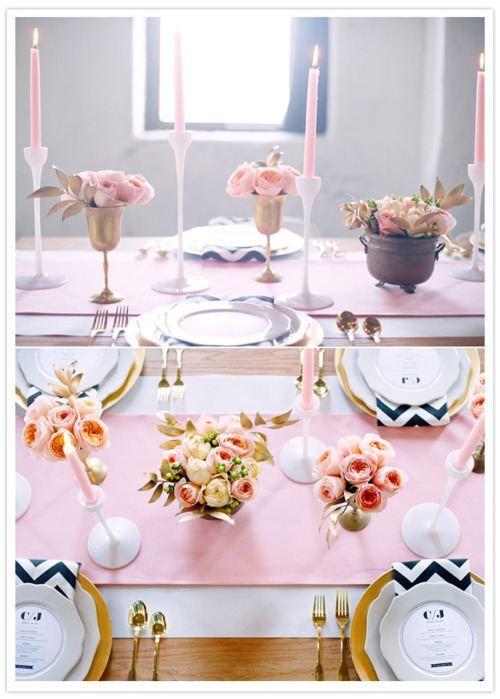 Color scheme inspiration: black, gold, and pastel pink.