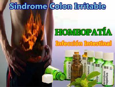Homeopatía, Infección Intestinal, Síndrome Colon Irritable