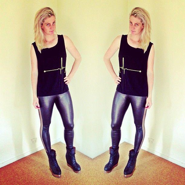 @Beck Roy in @staffbymaff_official #ekgtank #blackskinnylegs #staffbymaff #sbmaustralia #jeffreycampbell #backoffs #outfit #wearing #fashion #style #instafashion #ootd #girl #clothes #photooftheday #picoftheday #babe #instadaily #love #instagood #Padgram