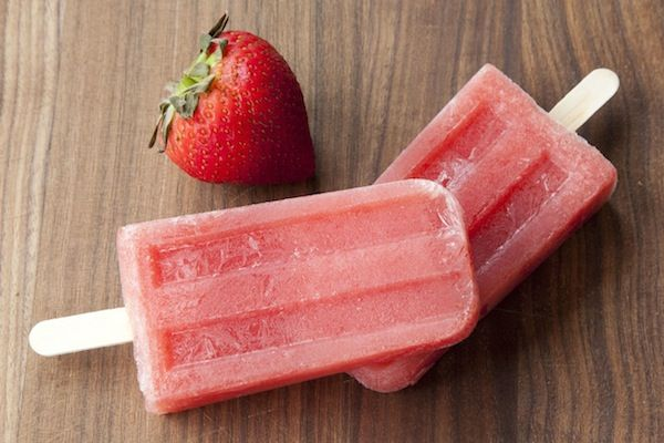 Here's to our summer shenanigans in 2014.  Boozy Strawberry-Watermelon Wine Pops
