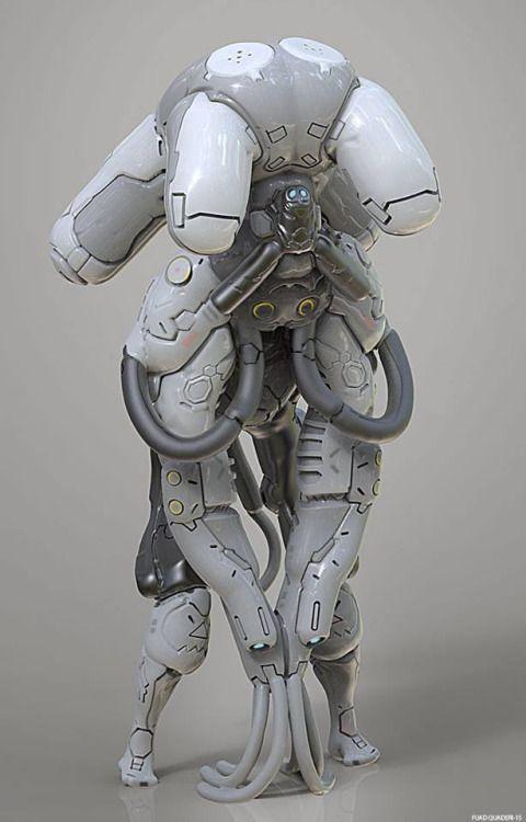 Mech byFuad Quaderi.More robots here.
