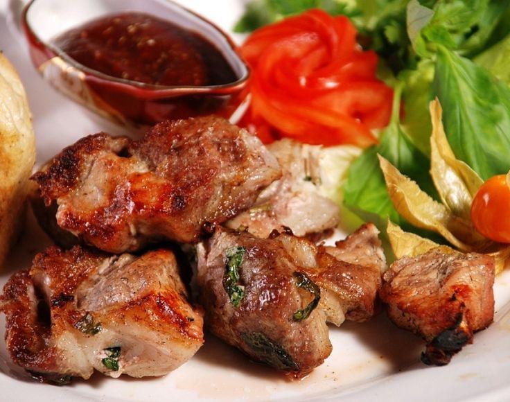 Свиной шашлык на сковороде / Простые рецепты