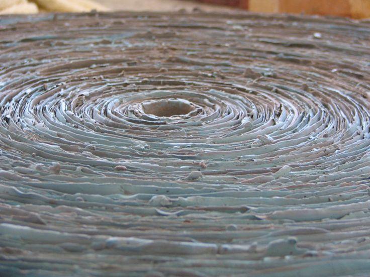 Anna Klimešová, Annual Rings, 2004, diameter 53 cm #clay #sculpture #ring