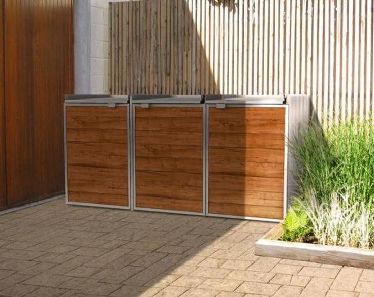 Five Modern Screens For Outdoor Garbage Bins | Screens, Modern And Storage