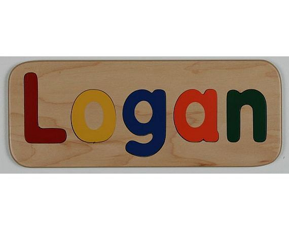 Handmade Wooden Name Puzzle - Custom Personalized - First Birthday Gift - Flush or Raised Wood Letters - Educational Toy - Kids Wood Name
