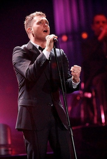 Sit front row at a Michael Buble concert, and have him sing to me