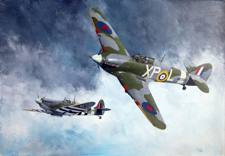 Spitfire and Hurricane breaking off due to low fuel. Call sign for such action: Bingo