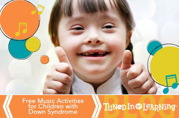 For children with Down Syndrome music is often a creative outlet and strength. This PDF Infographic includes five ways to use music in therapy.