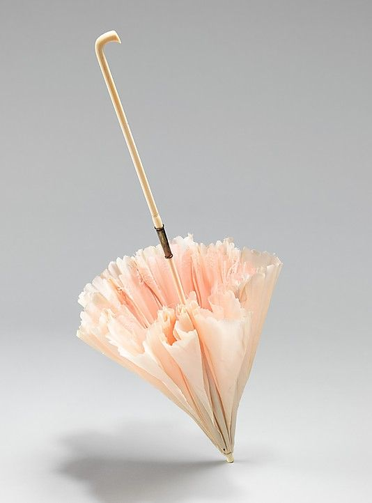 1860-69 parasol. Brooklyn Museum Costume Collection at The Metropolitan Museum of Art
