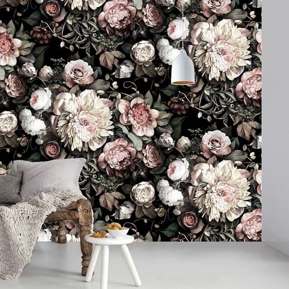 1000 Ideas About Floral Wallpapers On Pinterest Black
