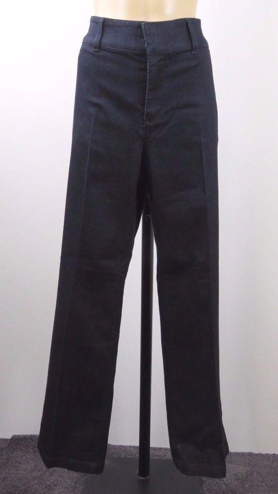 Size L 14 Suzanne Grae Jeans Ladies Stretch Fit High Waist Casual Retro Design #SuzanneGrae #WideLeg