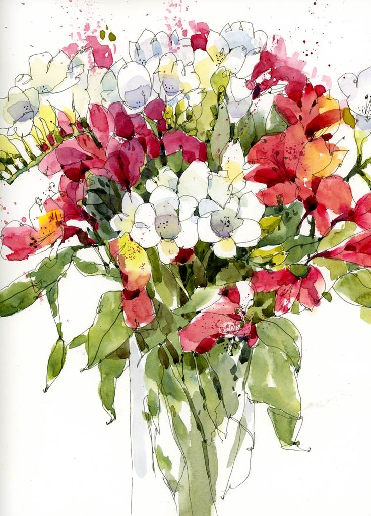17 best images about flowers bouquet on pinterest - High resolution watercolor flowers ...