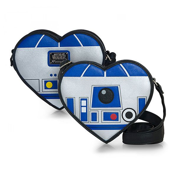 So you've gotten some stolen space plans and need a place to stash them? Then Artoo is definitely the droid you're looking for! Made of faux leather with an adjustable strap, this bag is shaped like a heart to confuse the Empire and show your love!