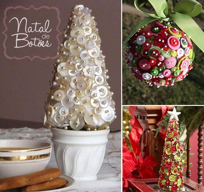 Natal artesanal - Decorando com botões