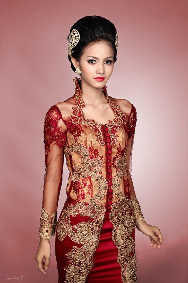 Beautiful Red Kebaya
