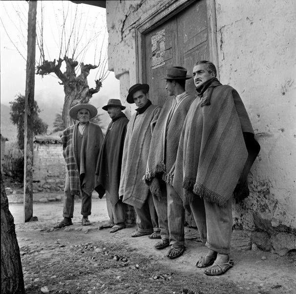 Campesinos de Villa Alhué en 1959.
