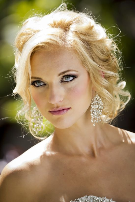 Loose Curls Updo. Wedding Hairstyle | Wedding Hairstyles For Shoulder Length | Pinterest ...