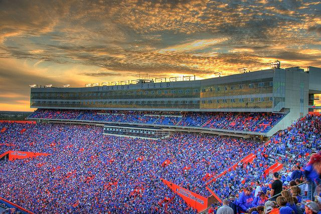 "Nice view of the stands at Ben Hill Griffin Stadium at Florida Field, a.k.a. ""The Swamp, Gainesville, FL"