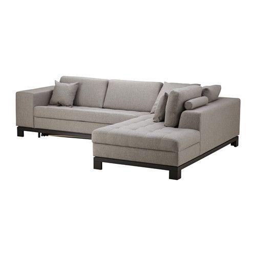НОГЕРСУНД Угл диван-кров c модулем д хран, пр IKEA Легко превращается в двуспальную кровать. Подходит для ежедневного использования.