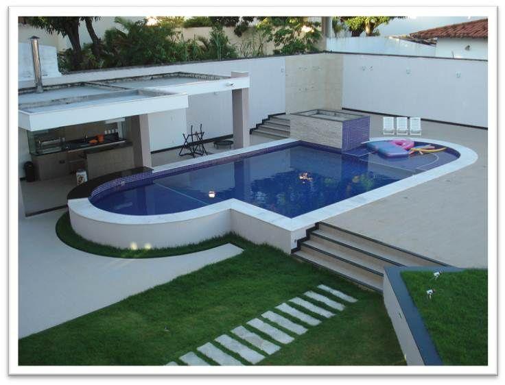 25 melhores ideias sobre piscina de alvenaria no - Medidas de piscinas de casas ...