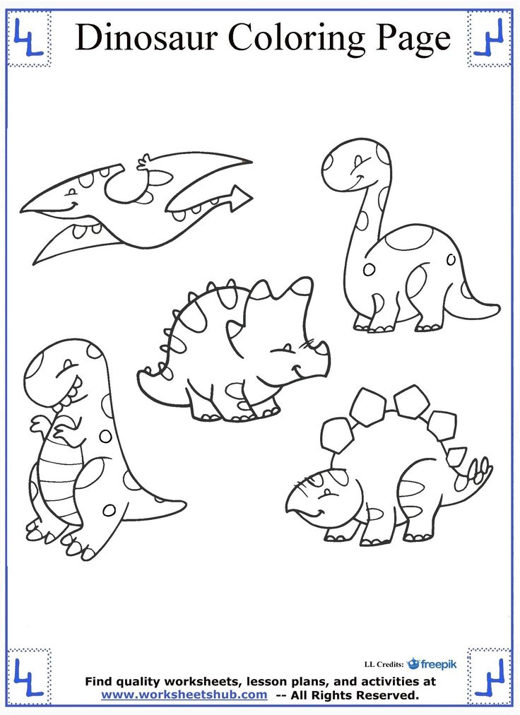 1000 ideas about Dinosaur Coloring