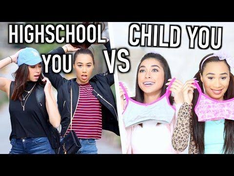 High School You VS Child You | Jeanine Amapola & MyLifeAsEva - YouTube