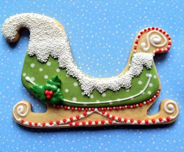 Festive Sleigh Cookie