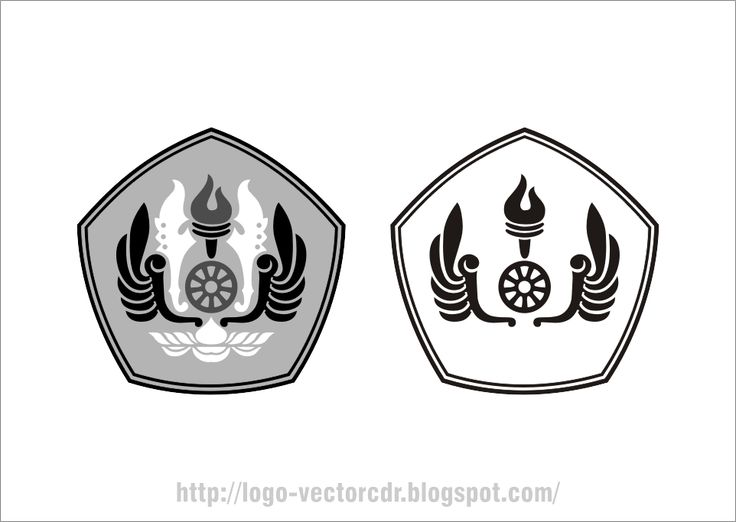 Logo UNPAD Hitam Putih Vector format cdr