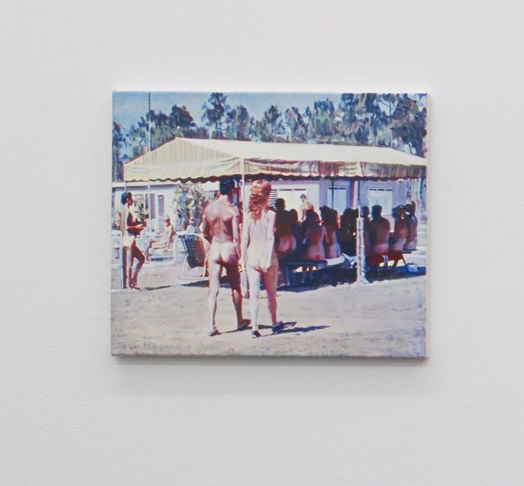 Nina Childress - Staying in the shade, 2013 - Huile sur toile, 46 x 55 cm - Collection particulière - Photographe Marc Domage
