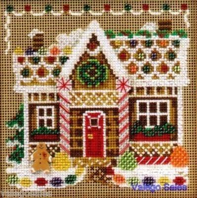 Mill Hill Beads Buttons #crossstitch  GINGERBREAD HOUSE #needlecraft #DIY #giftideas #decor