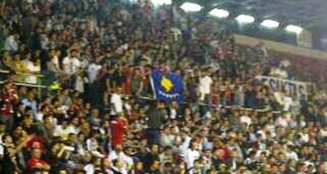 Kosovo flag in Belgrade??????
