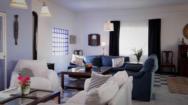 interior salón chalet de alquiler en Zahara de los Atunes