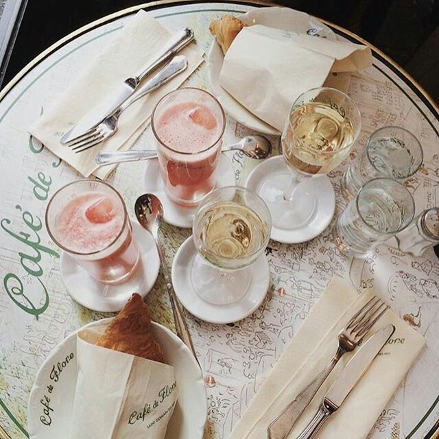 FOR THE HONEYMOON || Café de Flore, Paris || NOVELA BRIDE...where the modern romantics play & plan the most stylish weddings... www.novelabride.com @novelabride #jointheclique