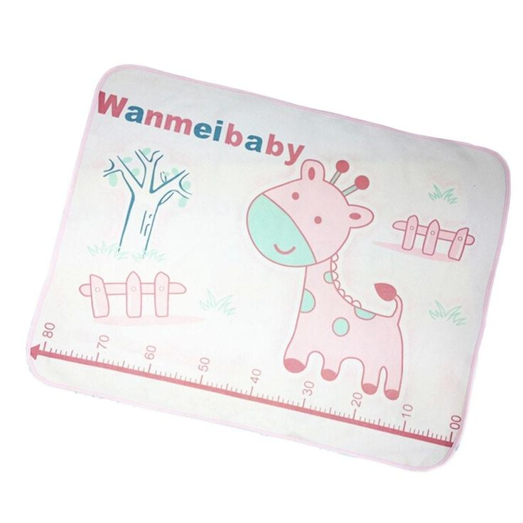 PINK Giraffe Baby KeepMeDry Pad Newborn Crib Sheet Infant Mattress Cover 60*80CM