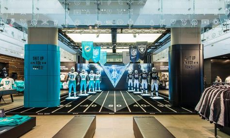 NIKE, NFL Niketown Takeover, 2014 | Miami Dolphins vs The Oakland Raiders by Millington Associates - #NFLUK #RaiderNation #FinsUp