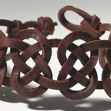 Celtic 9 Knot Josephine Anklet / Mens Wristband -- Bracelet / Ankle Bracelet