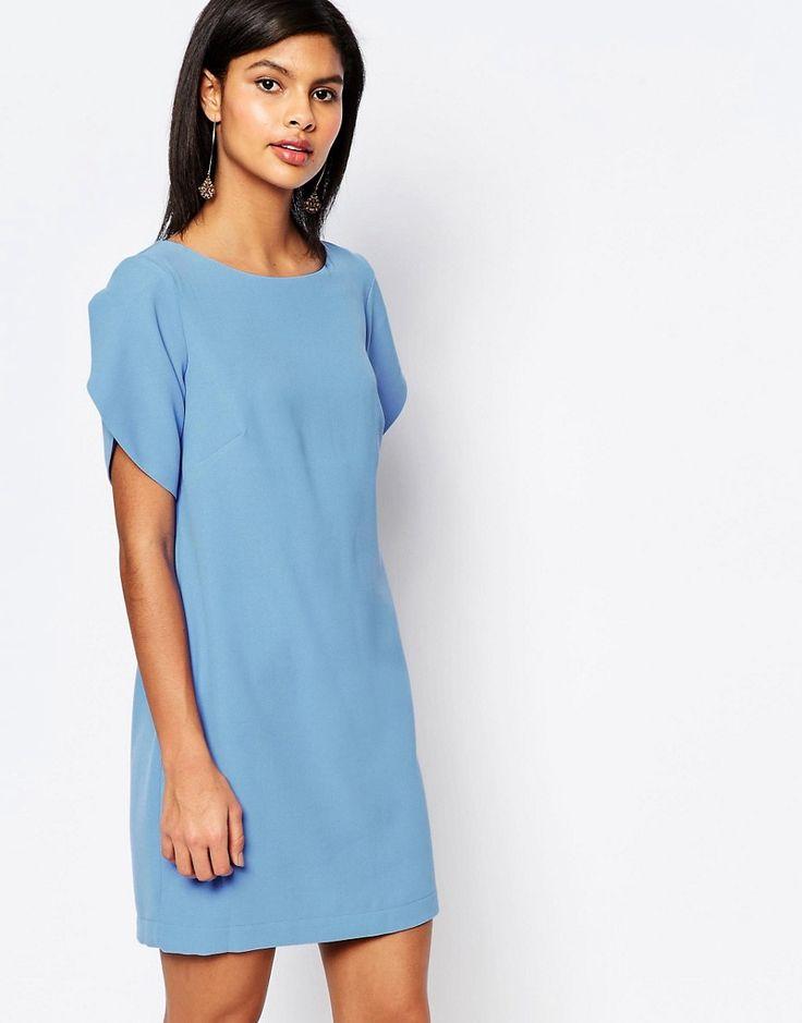 Imagen 1 de Vestido estilo túnica de crepé en azul de French Connection